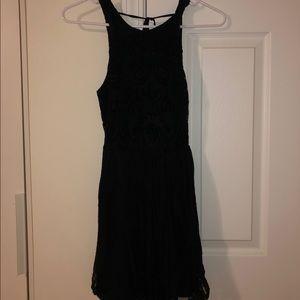 Hollister Patterned Black Dress